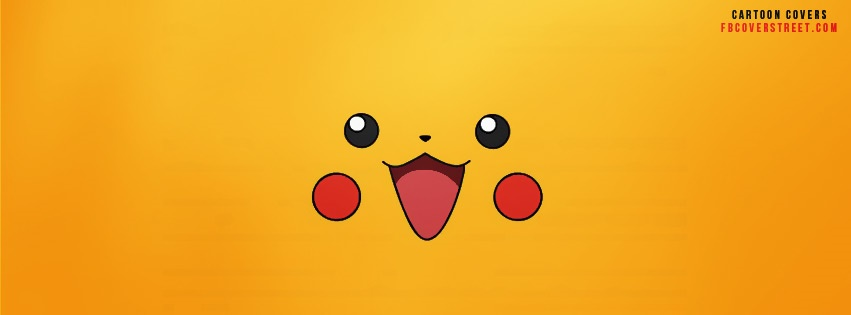 Pikachu Face 2 Facebook Cover