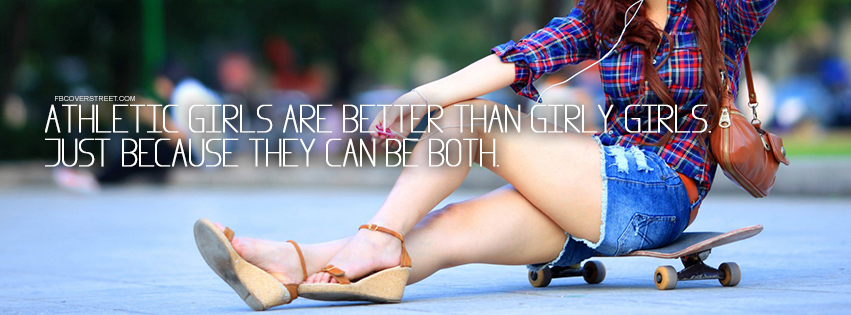 Athletic Girly Girls Quote Facebook cover