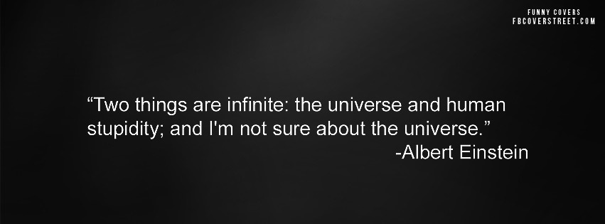Infinite Stupidity Albert Einstein Facebook cover