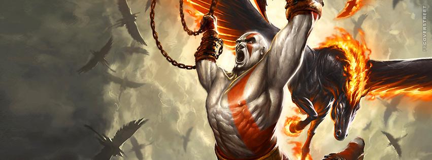 God of War Kratos Attack  Facebook cover