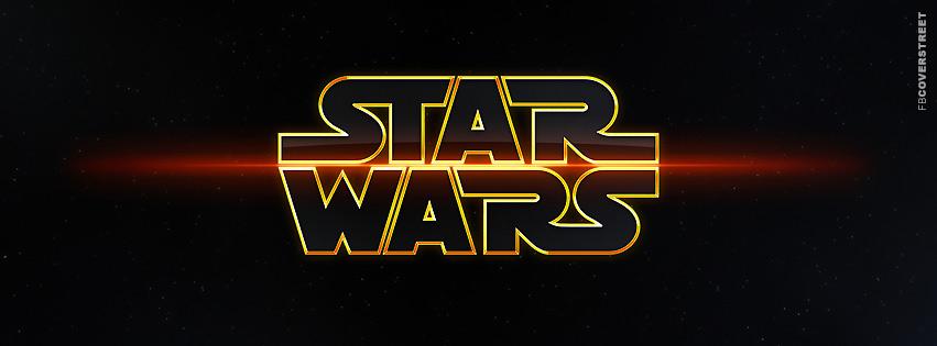 Vibrant Star Wars Logo  Facebook Cover