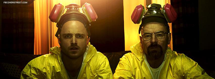 Breaking Bad Jesse And Walt Hazmat Suits Facebook Cover