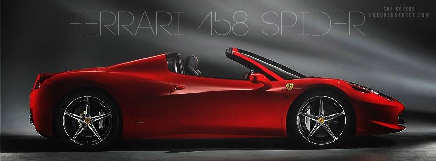 Ferrari 458 Spider Facebook cover