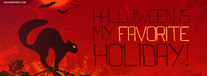 Halloween Is My Favorite Holiday Facebook Cover