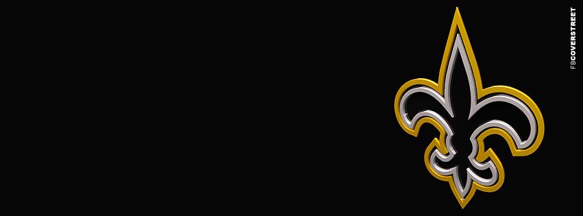 New Orleans Saints 3D Logo Facebook cover