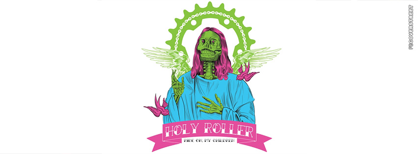 Skeleton Jesus Holy Roller  Facebook cover