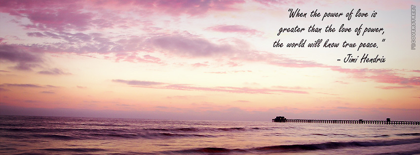 Power of Love Jimi Hendrix Photo Quote  Facebook cover