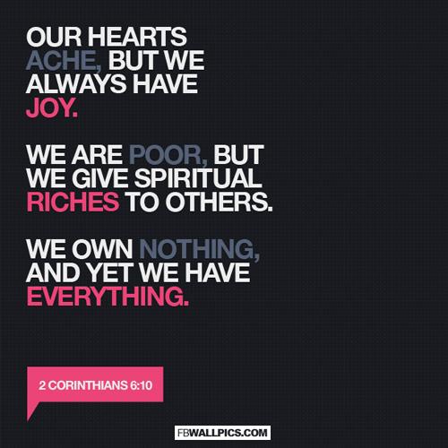2 Corinthians 6 10 We Always Have Joy  Facebook picture
