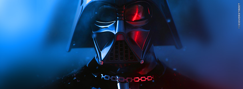 Darth Vader Star Wars Vibrant Colored Helmet Facebook Cover