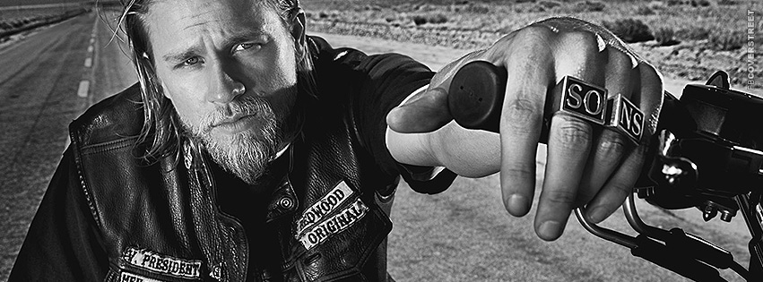 Jax Teller Stare Sons of Anarchy Photograph Facebook cover