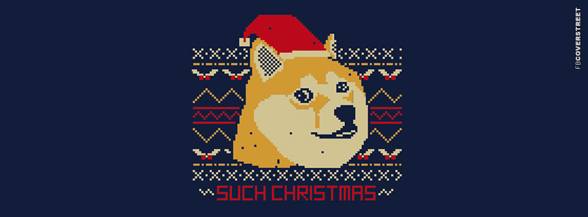 Doge Such Christmas  Facebook cover
