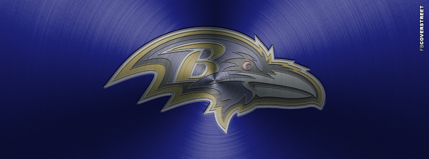 Baltimore Ravens Aluminum Logo Facebook cover