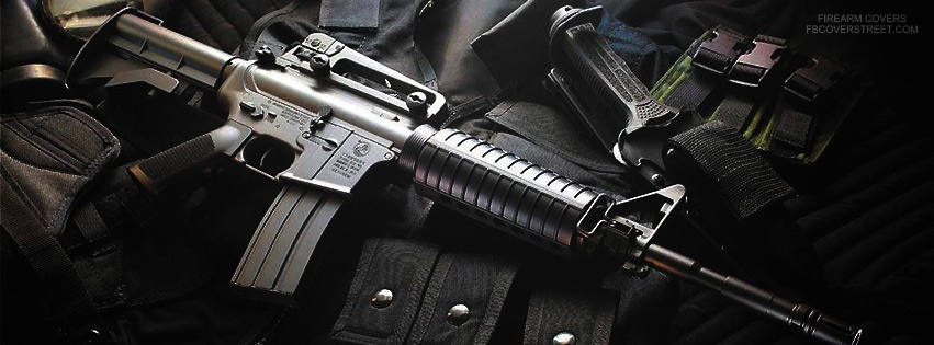Assault Rifle And Accessories 2 Facebook Cover