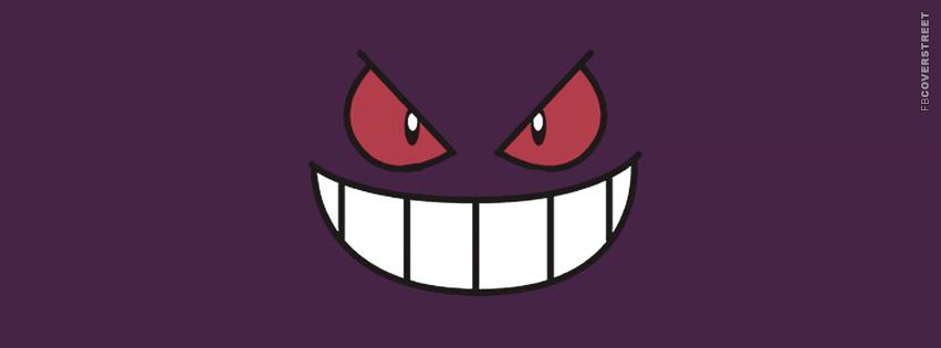 Gangar Pokemon Face  Facebook Cover